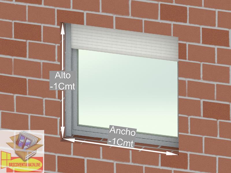 como medir brico ventana online