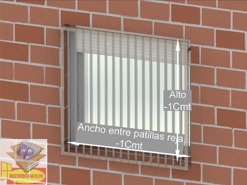 como medir con reja brico ventana online