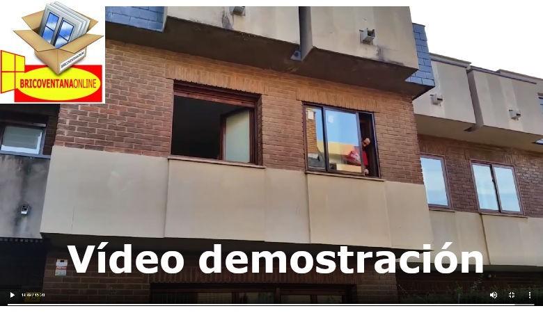 Vídeo demostración de montaje de una ventana a medida